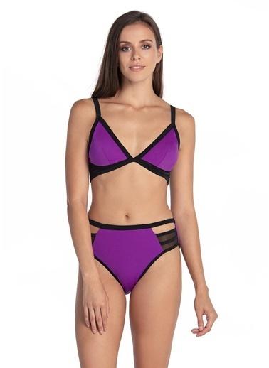Dagi Üçgen Bikini Takım Mor